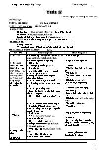Giáo án Lớp 1 - Tuần 17 - Năm học 2011-2012 - Trường Tiểu học Quảng Trung