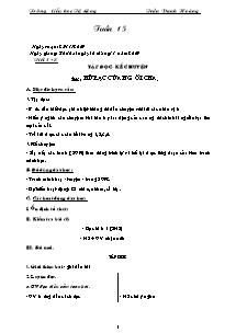 Giáo án Lớp 3 - Năm học 2009-2010 - Trần Danh Hoàng