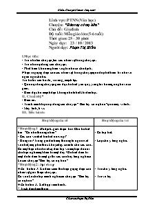 Giáo án Lớp 5 - Chủ đề gia đình - Năm học 2013-2014 - Phạm Thị Hiền