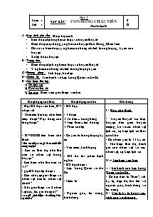Giáo án Ngữ Văn Lớp 6 - Tiết 1, Bài 1: Con Rồng cháu Tiên