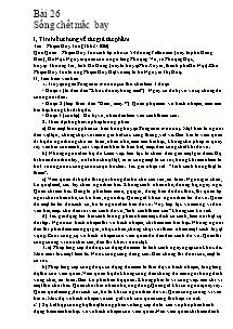 Giáo án Ngữ Văn Lớp 7 - Bài 26: Sống chết mặc bay