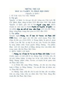 Giáo án Ngữ Văn Lớp 7 - Bài 27: Những trò lố hay là Va - ren và Phan Bội Châu - Nguyễn Ái Quốc