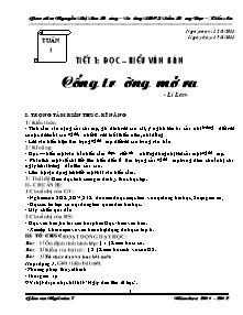 Giáo án Ngữ Văn Lớp 7 - Chương trình cả năm - Năm học 2011-2012 - Nguyễn Thị Thu Hương