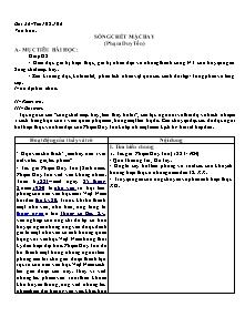 Giáo án Ngữ Văn Lớp 7 - Tiết 105 và 106, Bài 26: Sống chết mặc bay - Phạm Duy Tôn