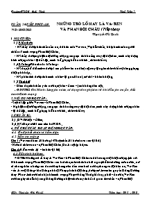 Giáo án Ngữ Văn Lớp 7 - Tiết 110: Những trò lố hay Va-Ren và Phan Bội Châu (Tiếp theo) - Năm học 2012-2013 - Nguyễn Thị Tuyết