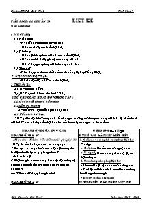 Giáo án Ngữ Văn Lớp 7 - Tiết 114: Liệt kê - Năm học 2012-2013 - Nguyễn Thị Tuyết