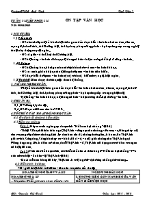 Giáo án Ngữ Văn Lớp 7 - Tiết 121: Ôn tập văn học - Năm học 2012-2013 - Nguyễn Thị Tuyết