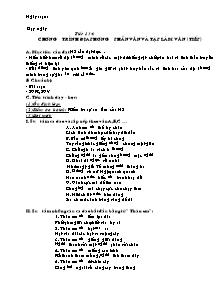 Giáo án Ngữ Văn Lớp 7 - Tiết 134 đến 149