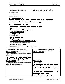 Giáo án Ngữ Văn Lớp 7 - Tiết 135: Trả bài thi học kì 2