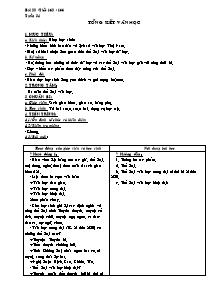 Giáo án Ngữ Văn Lớp 7 - Tiết 163 đến 166, Bài 34: Tổng kết văn học
