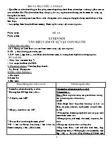 Giáo án Ngữ Văn Lớp 7 - Tiết 41 đến 56