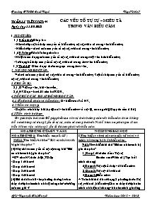 Giáo án Ngữ Văn Lớp 7 - Tiết 44: Các yêu tố tự sự - Miêu tả trong văn biểu cảm - Năm học 2012-2013 - Nguyễn Thị Tuyết