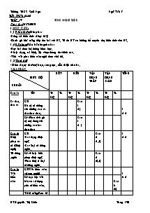 Giáo án Ngữ Văn Lớp 7 - Tiết 65, 66: Thi học kì I - Nguyễn Thị Kiều