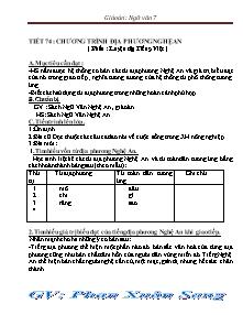 Giáo án Ngữ Văn Lớp 7 - Tiết 74: Chương trình địa phương Nghệ An - Phan Xuân Sang