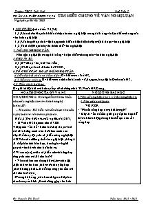 Giáo án Ngữ Văn Lớp 7 - Tiết 75, 76: Tìm hiểu chung về văn nghị luận - Năm học 2012-2013 - Nguyễn Thị Tuyết