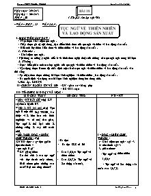 Giáo án Ngữ Văn Lớp 7 - Tiết 77, Bài 18: Tục ngữ về thiên nhiên và lao động sản xuất - Năm học 2013-2014 - Lê Thị Kim Thoa