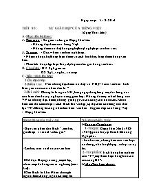 Giáo án Ngữ Văn Lớp 7 - Tiết 85 đến 89 - Năm học 2013-2014
