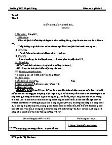 Giáo án Ngữ Văn Lớp 7 - Tuần 1 - Nguyễn Thị Kim Loan