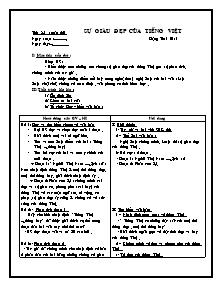 Giáo án Ngữ Văn Lớp 7 - Tuần 22 - Bản đẹp 2 cột