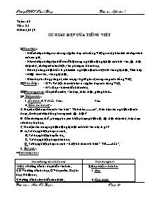 Giáo án Ngữ Văn Lớp 7 - Tuần 23 - Mai Thị Luyến