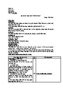 Giáo án Ngữ Văn Lớp 7 - Tuần 24