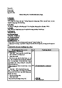Giáo án Ngữ Văn Lớp 7 - Tuần 25 (Chuẩn kiến thức )