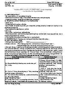 Giáo án Ngữ Văn Lớp 7 - Tuần 26 - Năm học 2013-2014 - Trương Thị Giang