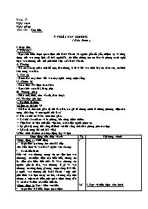 Giáo án Ngữ Văn Lớp 7 - Tuần 27 (Chuẩn kiến thức )