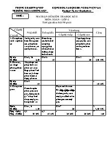 Giáo án Toán học Lớp 6 - Đề kiểm tra học kì 2