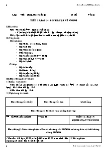 Giáo án Vật Lí Lớp 8 - Tiết 15, Bài 14: Đinh Luật về công - Đào Duy Xuân