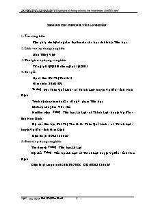 Sáng kiến kinh nghiệm: Biện pháp rèn kỹ năng cảm thụ thơ văn cho học sinh Tiểu học - Bùi Thị Thu Hoài