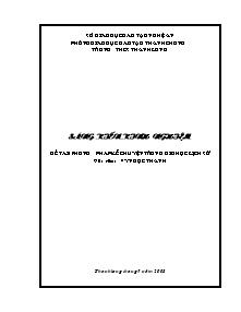 Sáng kiến kinh nghiệm: Phương pháp kể chuyện trong giờ học lịch sử - Vy Ngọc Thanh